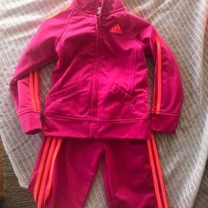 Adidas Tracksuit Set Girls 24 Months 2T